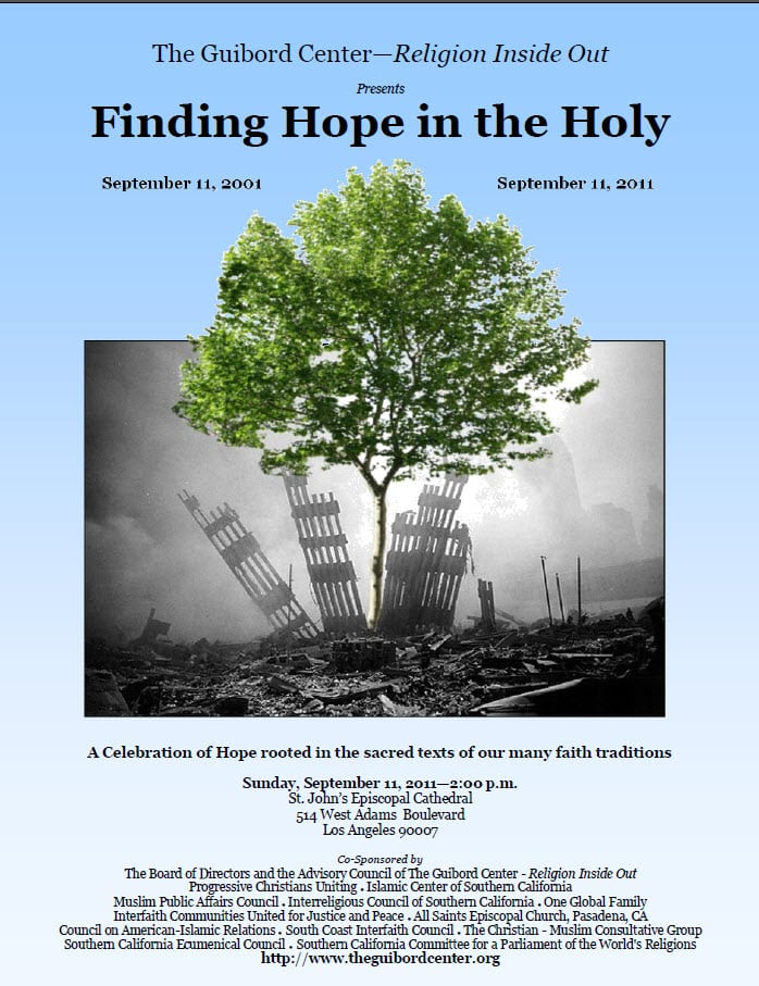Guibord Center Finding Hope in the Holy program cover
